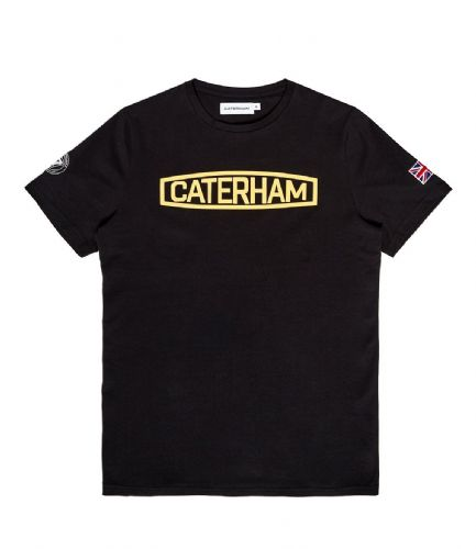 CATERHAM LOGO BLACK & YELLOW TEE SHIRT